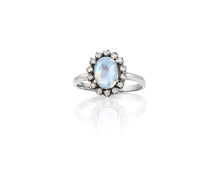 Moonstone Diamond Ring