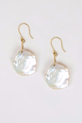 Large Keshi Pearl Earrings - Hottest Designer Pearl and Leather Jewelry | VINCENT PEACH