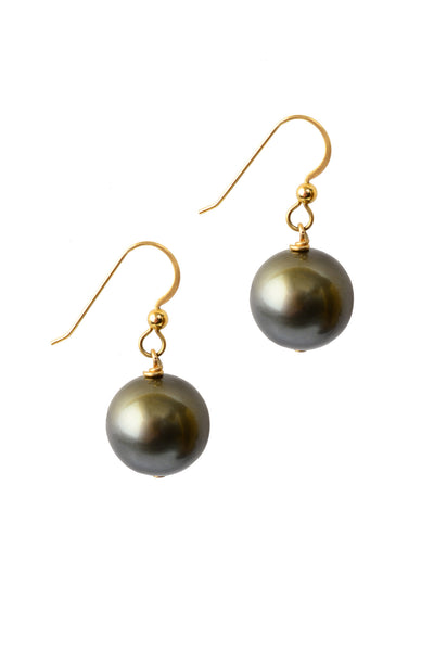 Demure Tahitian Earrings - Hottest Designer Pearl and Leather Jewelry | VINCENT PEACH