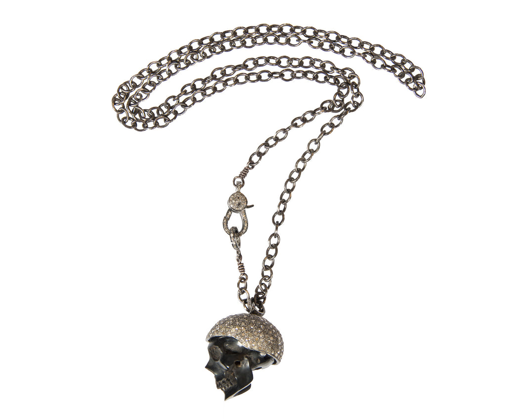 Demure Kepi Skull Necklace