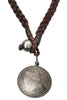 Silver Queen Victoria Coin Necklace - Hottest Designer Pearl and Leather Jewelry | VINCENT PEACH  - 2