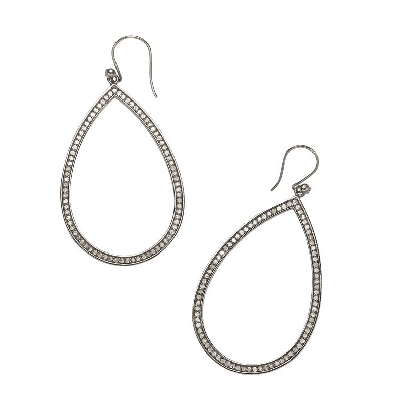 Diamond Teardrop Earrings - Hottest Designer Pearl and Leather Jewelry | VINCENT PEACH