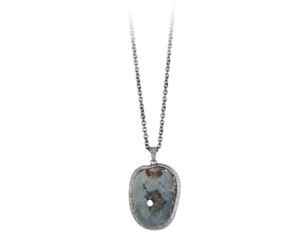 Druzy Pyrite Necklace