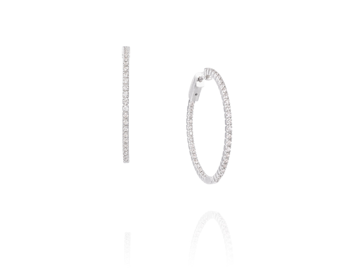 .8ct Diamond Hoop Earrings on 14kt White Gold
