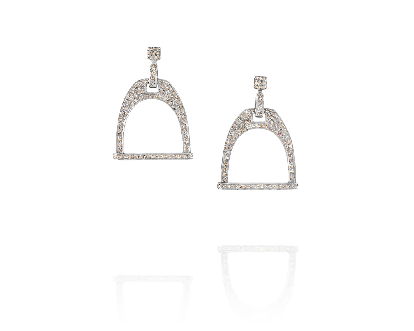2.91ct Equestrian Stirrup Earrings