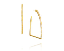 1.86ct 14kt Gold Stirrup Hoop Earrings