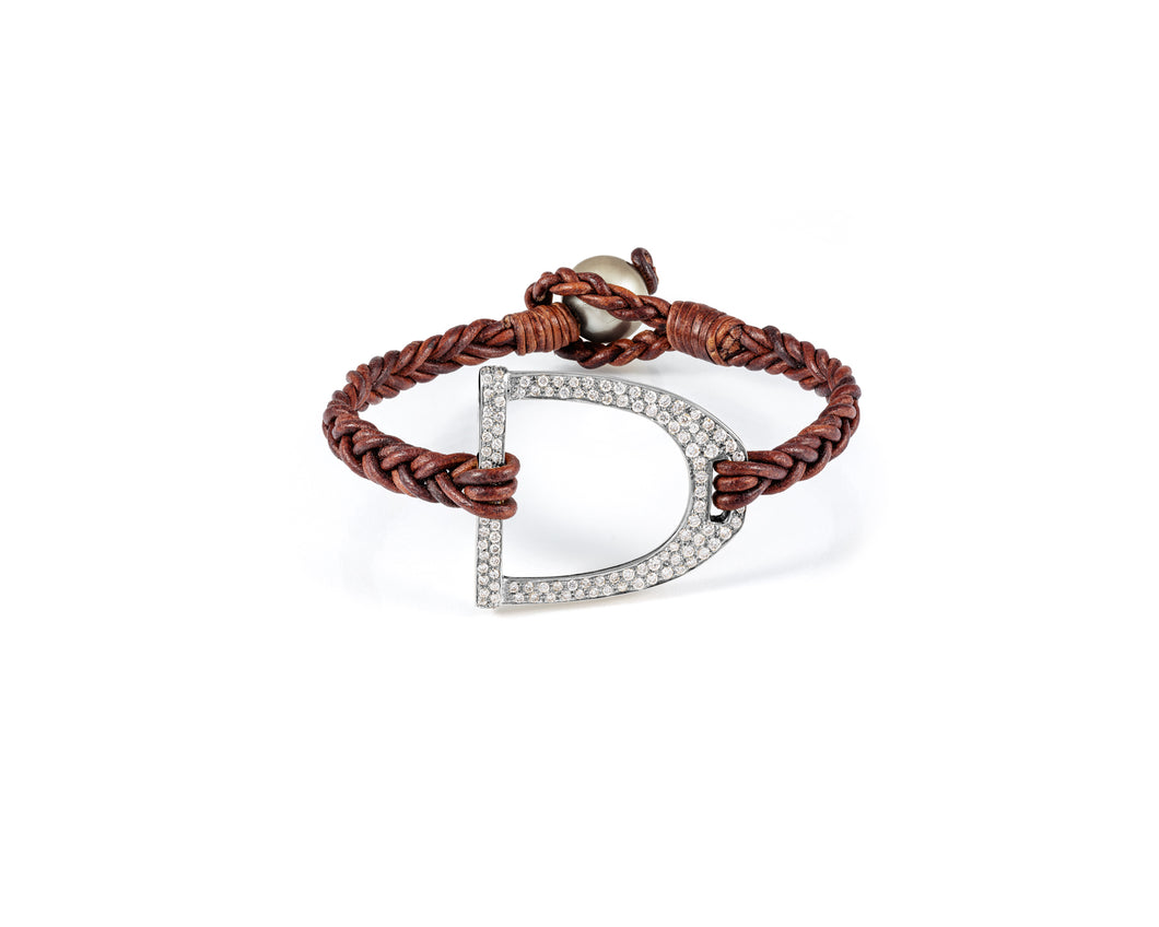 Derby Stirrup Bracelet | Diamond