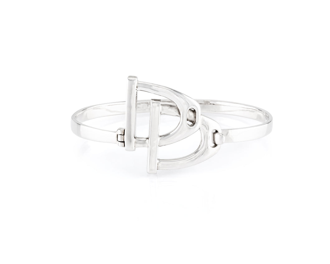 Sterling Silver Raceway Bangle