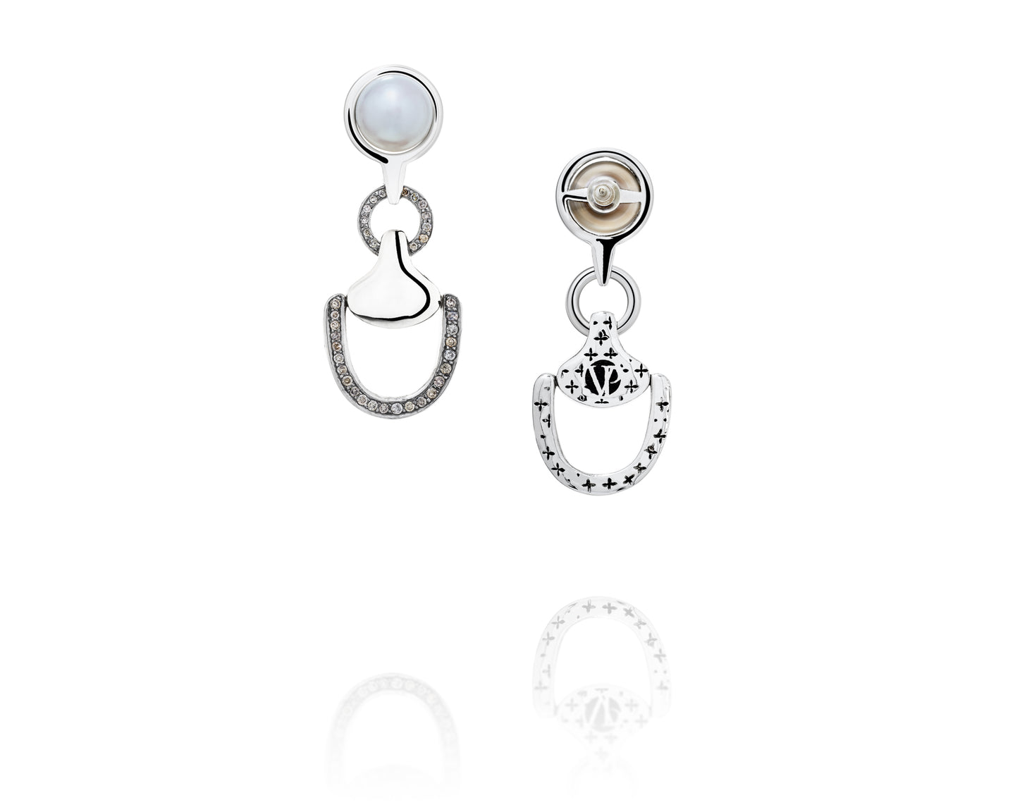 Churchill Downs Earrings | Half Diamond