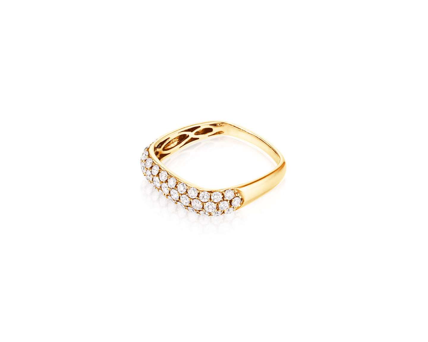 .72ct Diamond 18kt Yellow Gold Square Ring