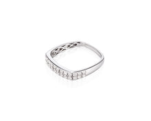 .52ct Diamond, 18kt White Gold Square Ring