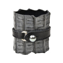 Equestrian Cuff, Blue-Grey - Hottest Designer Pearl and Leather Jewelry | VINCENT PEACH  - 1