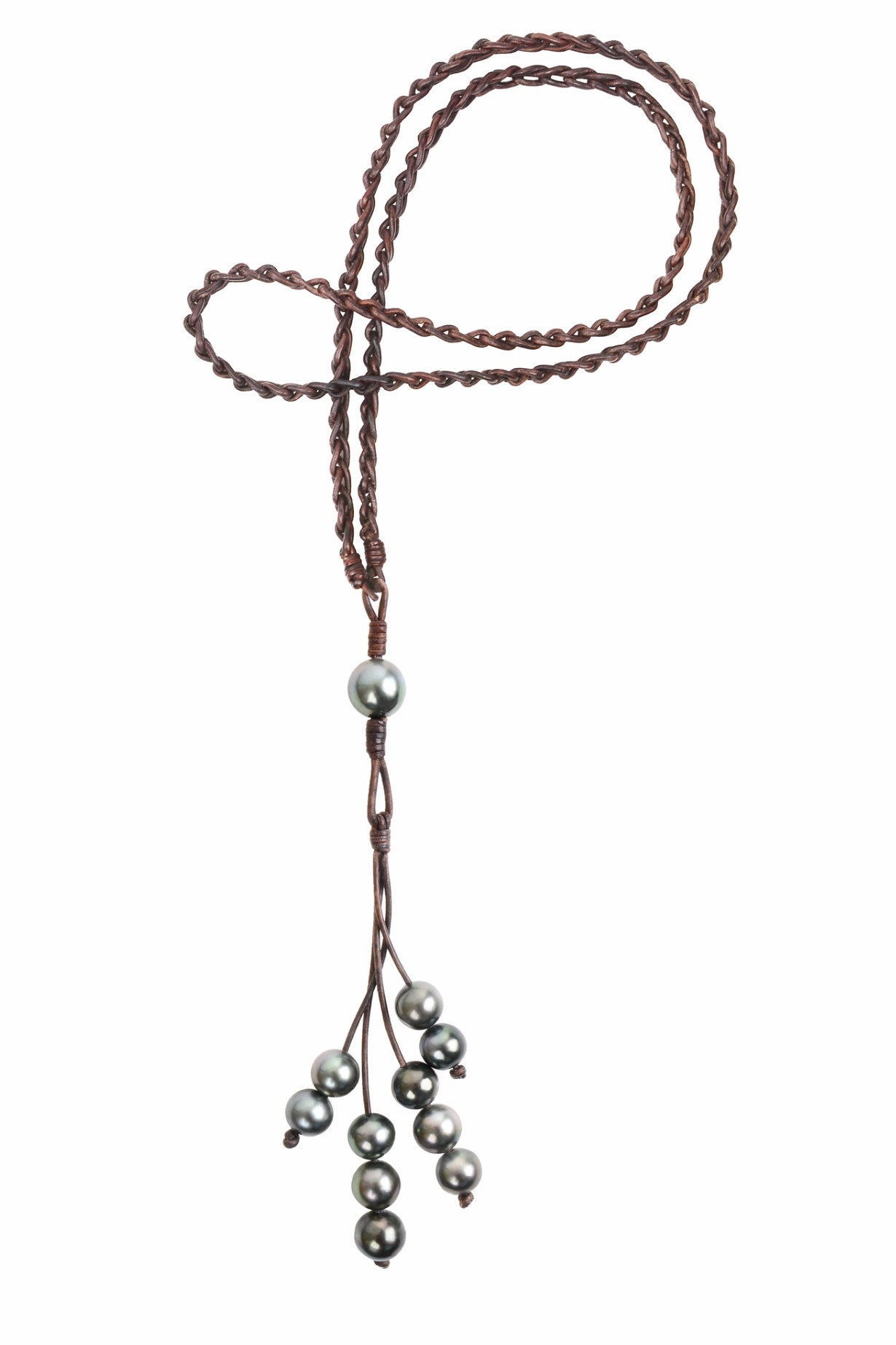 Eternity Necklace, Tahitian - Hottest Designer Pearl and Leather Jewelry | VINCENT PEACH