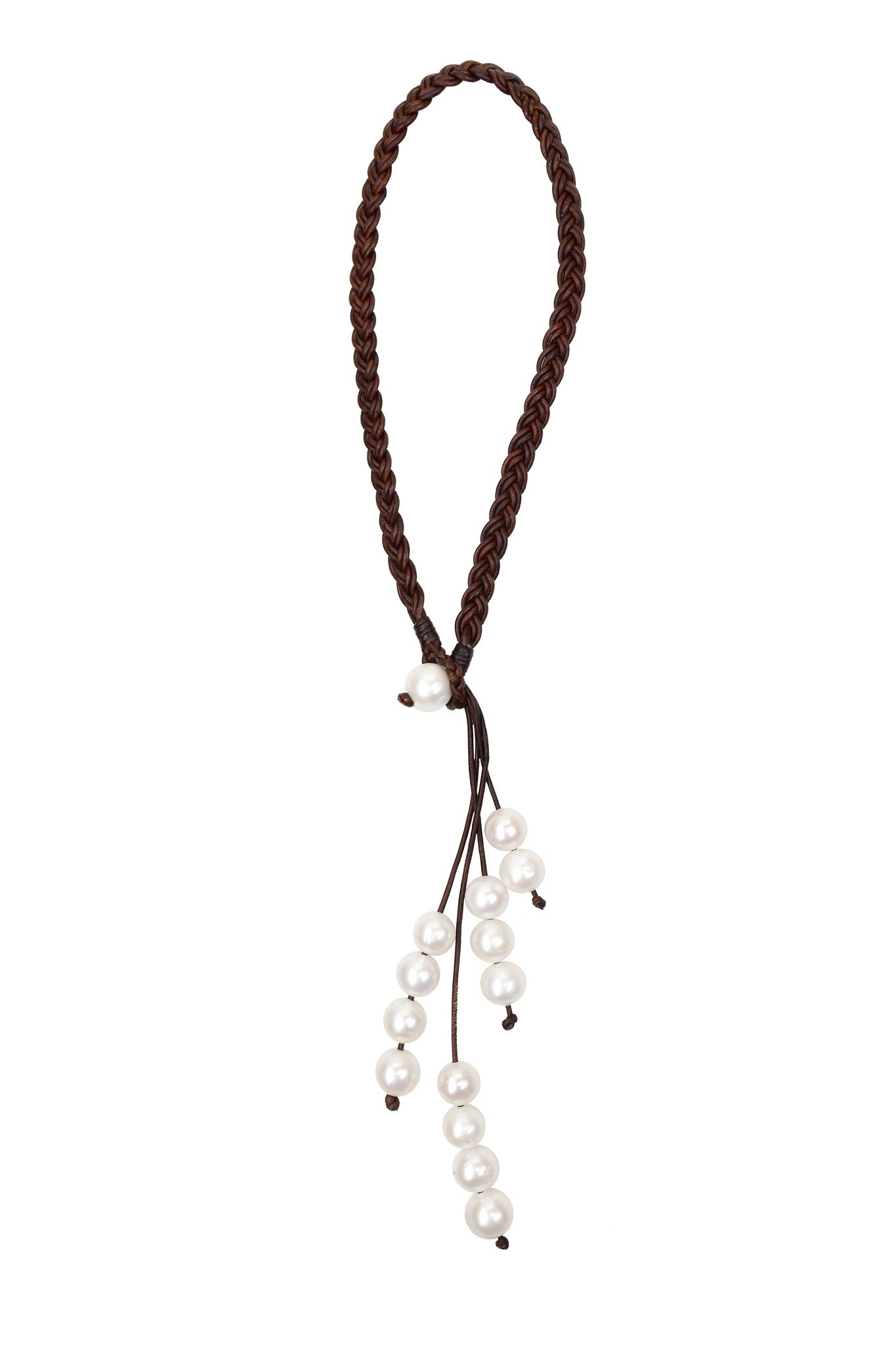 Fountain Necklace, Freshwater - Hottest Designer Pearl and Leather Jewelry | VINCENT PEACH