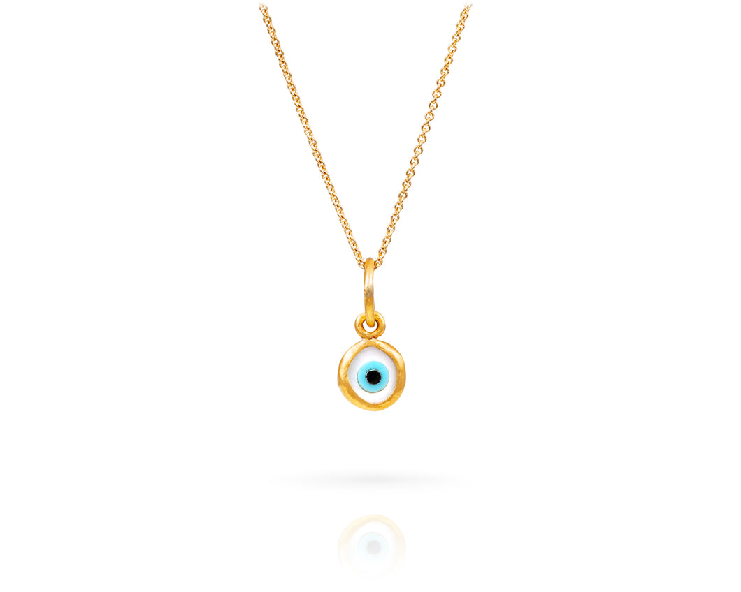 Small Evil Eye Charm Necklace