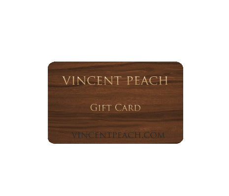 VINCENT PEACH GIFT CARD - Hottest Designer Pearl and Leather Jewelry | VINCENT PEACH