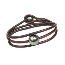 Global Wrap Bracelet - Hottest Designer Pearl and Leather Jewelry | VINCENT PEACH  - 1