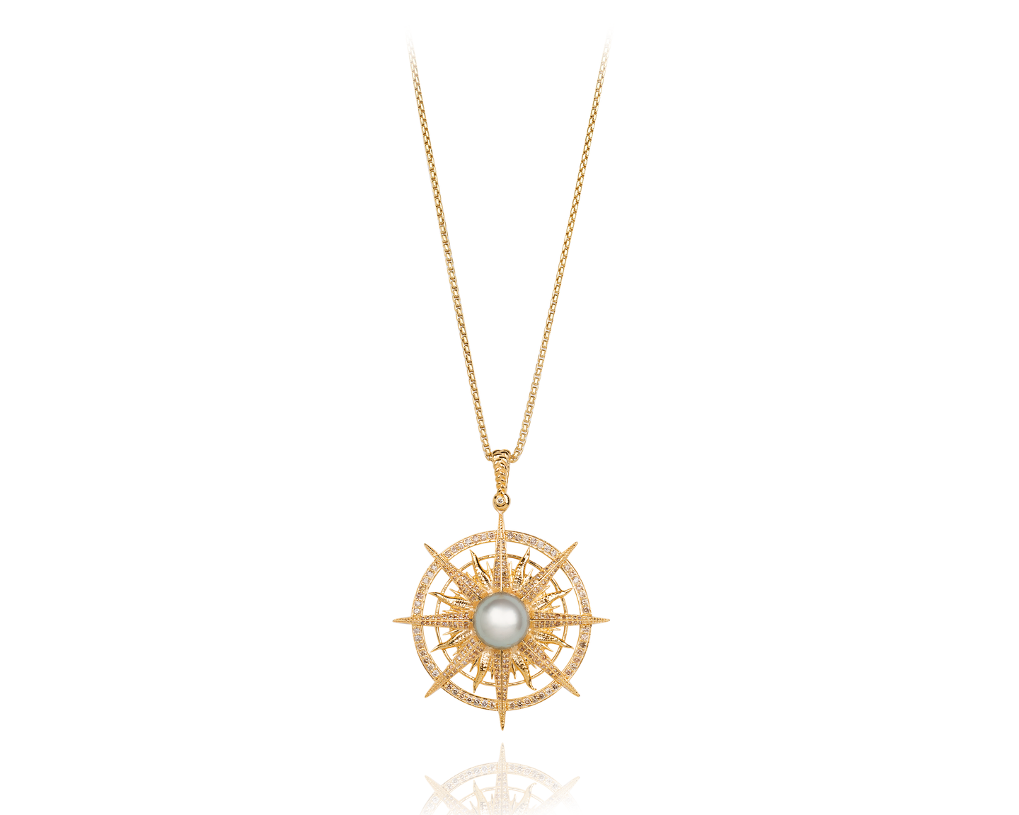 leather compass karat necklace gold jewelry products pearl and designer