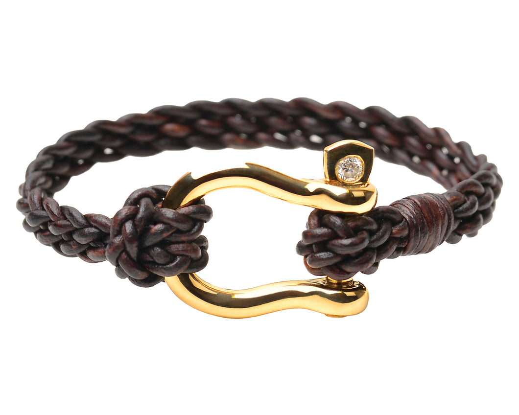 Gold Shackle Bracelet