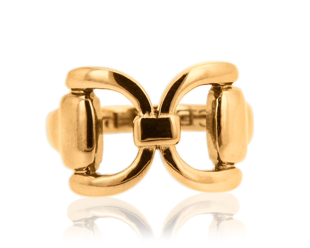 Gold Tied Bit Ring