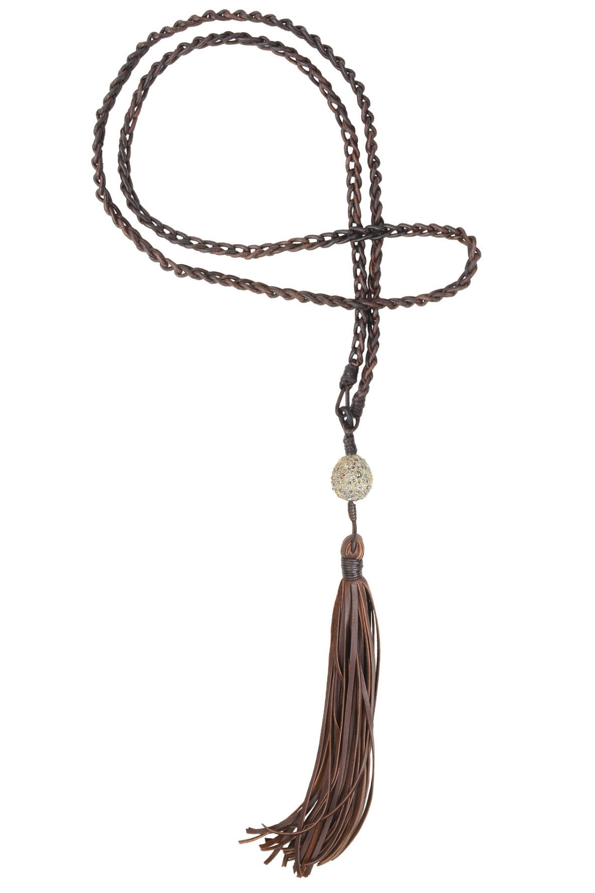 Jurassic Tassel Necklace - Hottest Designer Pearl and Leather Jewelry | VINCENT PEACH