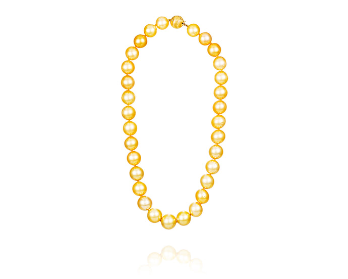 Natural Golden Australian South Sea Pearl Necklace