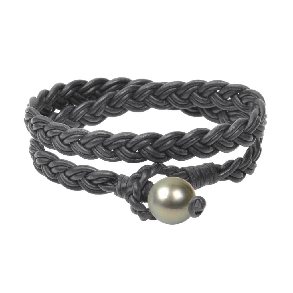 Lagos Double Wrap Bracelet, Tahitian - Hottest Designer Pearl and Leather Jewelry | VINCENT PEACH  - 1
