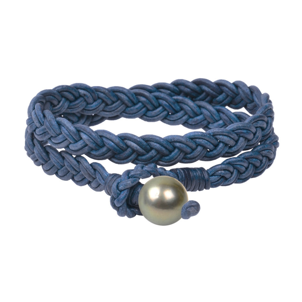 Lagos Double Wrap Bracelet, Tahitian - Hottest Designer Pearl and Leather Jewelry | VINCENT PEACH  - 4