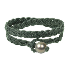 Lagos Double Wrap Bracelet, Tahitian - Hottest Designer Pearl and Leather Jewelry | VINCENT PEACH  - 7