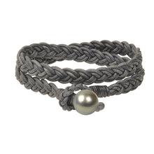 Lagos Double Wrap Bracelet, Tahitian - Hottest Designer Pearl and Leather Jewelry | VINCENT PEACH  - 2