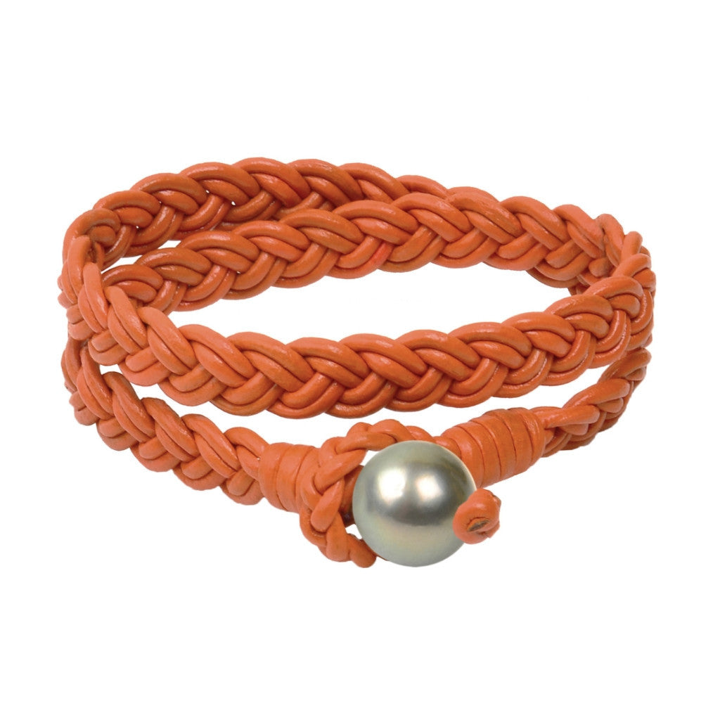 Lagos Double Wrap Bracelet, Tahitian - Hottest Designer Pearl and Leather Jewelry | VINCENT PEACH  - 5