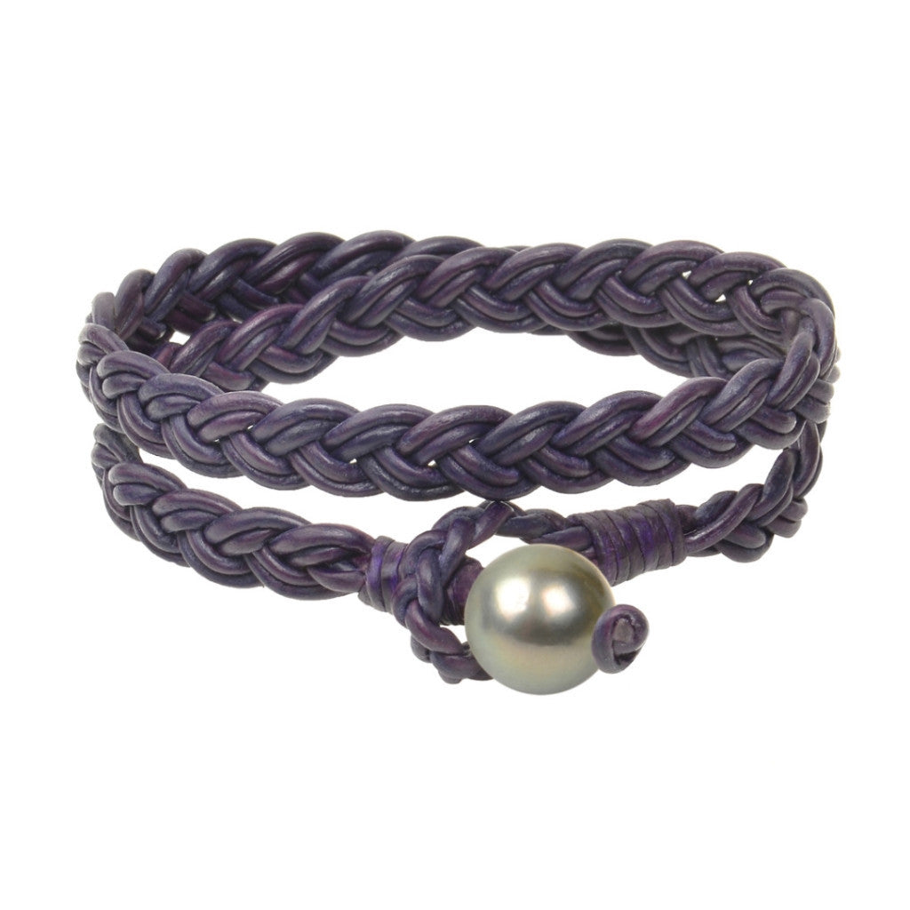 Lagos Double Wrap Bracelet, Tahitian - Hottest Designer Pearl and Leather Jewelry | VINCENT PEACH  - 6