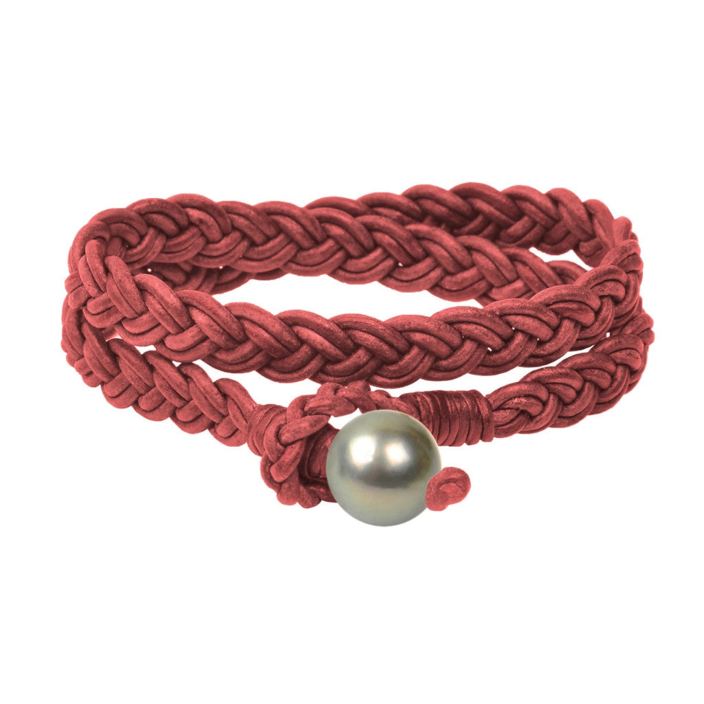 Lagos Double Wrap Bracelet, Tahitian - Hottest Designer Pearl and Leather Jewelry | VINCENT PEACH  - 3