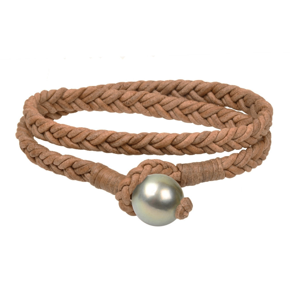 Lagos Double Wrap Bracelet, Tahitian - Hottest Designer Pearl and Leather Jewelry | VINCENT PEACH  - 8