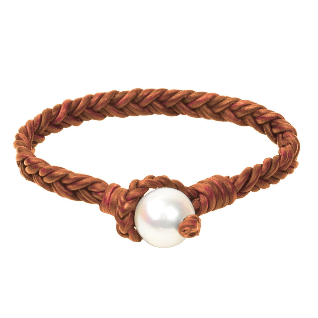 Lagos Flat Braid Bracelet, Freshwater - Hottest Designer Pearl and Leather Jewelry | VINCENT PEACH  - 4