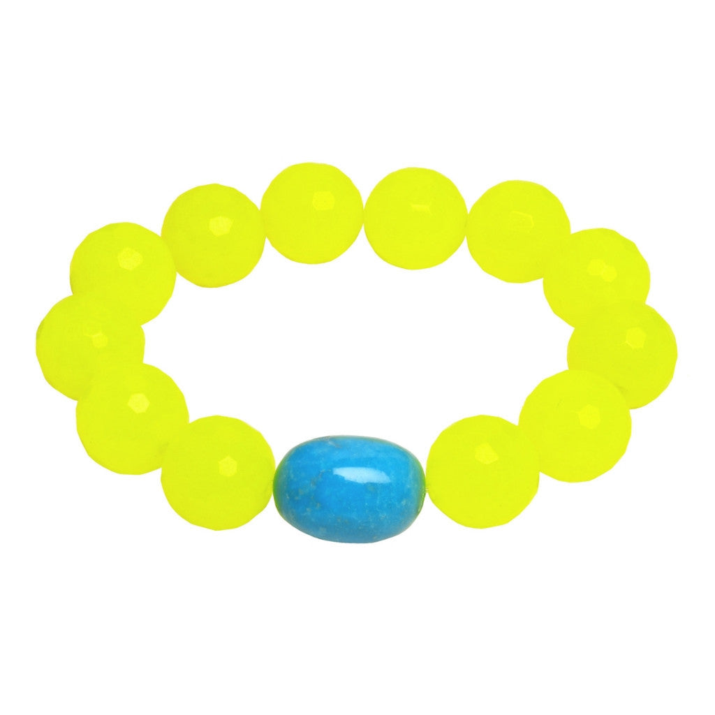 Lemon Quartz Turquoise Bracelet - Hottest Designer Pearl and Leather Jewelry | VINCENT PEACH