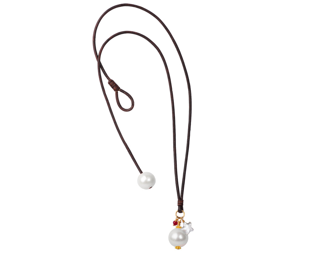Lonestar Charm Necklace | Freshwater Pearl