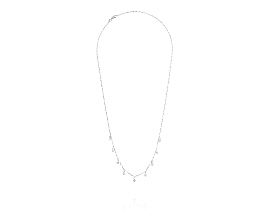 14kt White Gold Diamond Choker