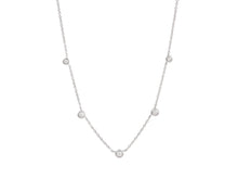 14kt White Gold, .23ct Diamond Choker
