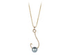 14 kt Gold Marina Marlin Diamond Necklace