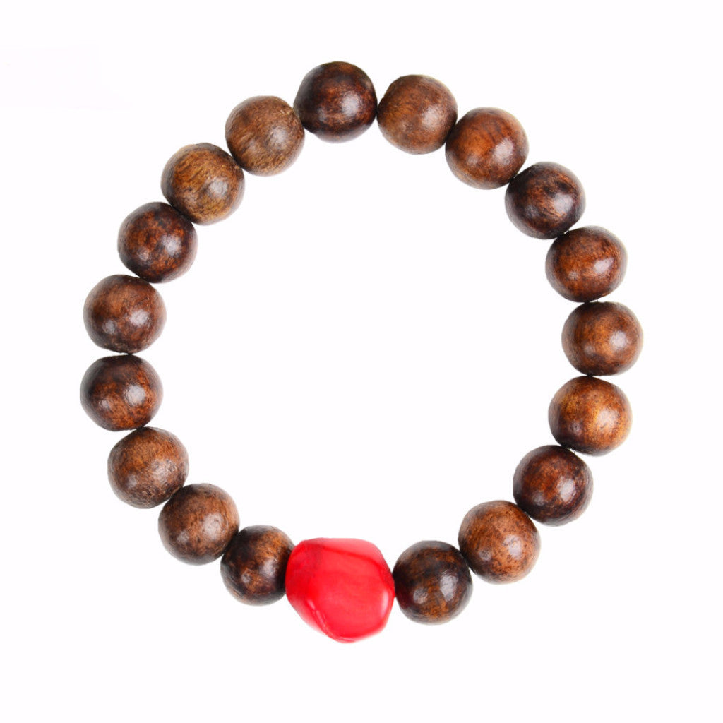 Mediterranean Coral and Wood Bracelet - Hottest Designer Pearl and Leather Jewelry | VINCENT PEACH