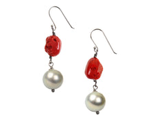 Mediterranean Coral Earrings