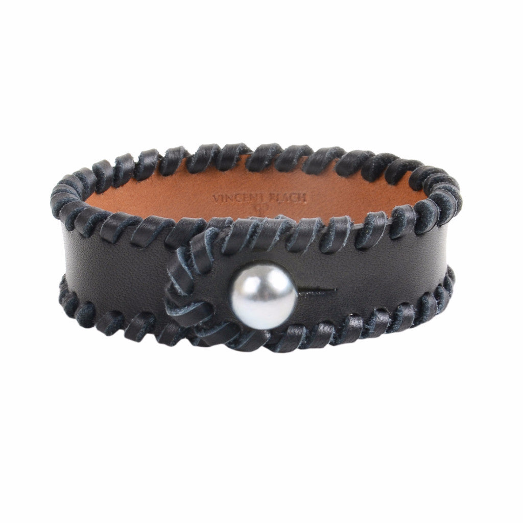 Men's Spanish Cuff - Hottest Designer Pearl and Leather Jewelry | VINCENT PEACH