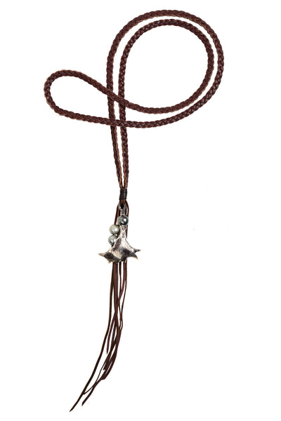 Moose Horn Necklace, Tahitian - Hottest Designer Pearl and Leather Jewelry | VINCENT PEACH  - 1