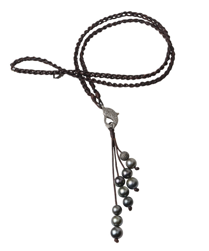 Morean Eternity Necklace - Hottest Designer Pearl and Leather Jewelry | VINCENT PEACH