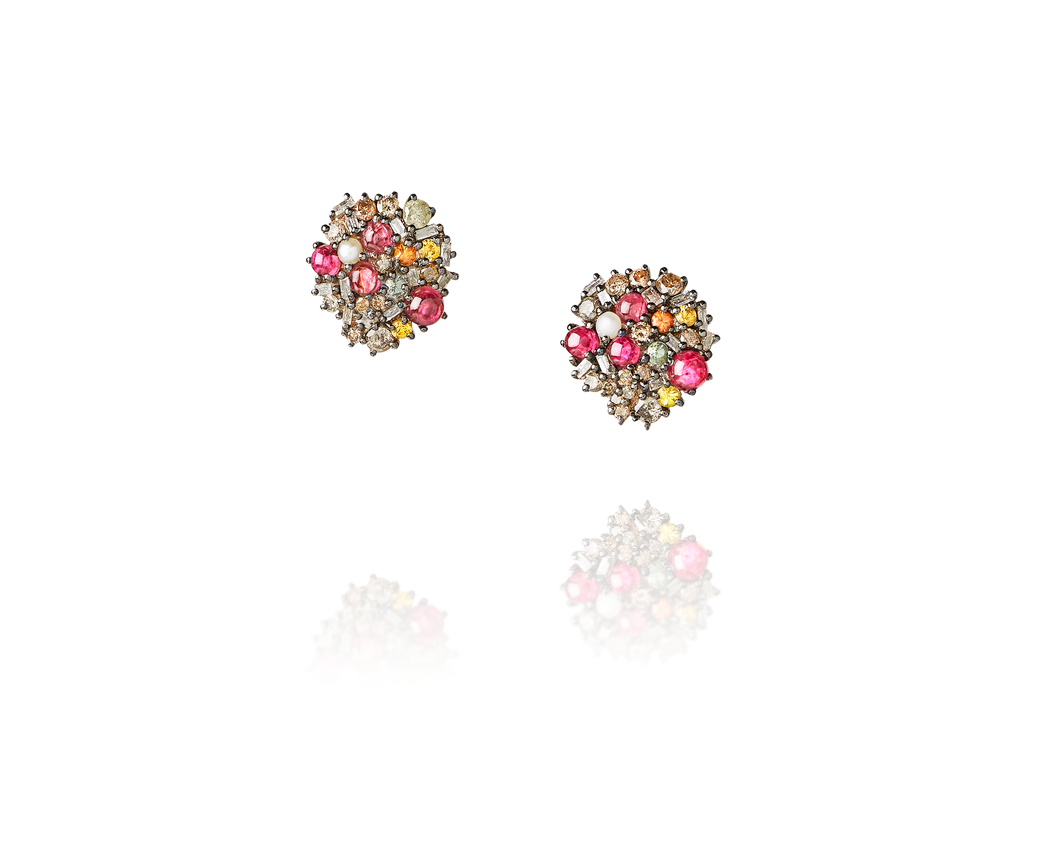 3.38ct Honey Comb Earrings