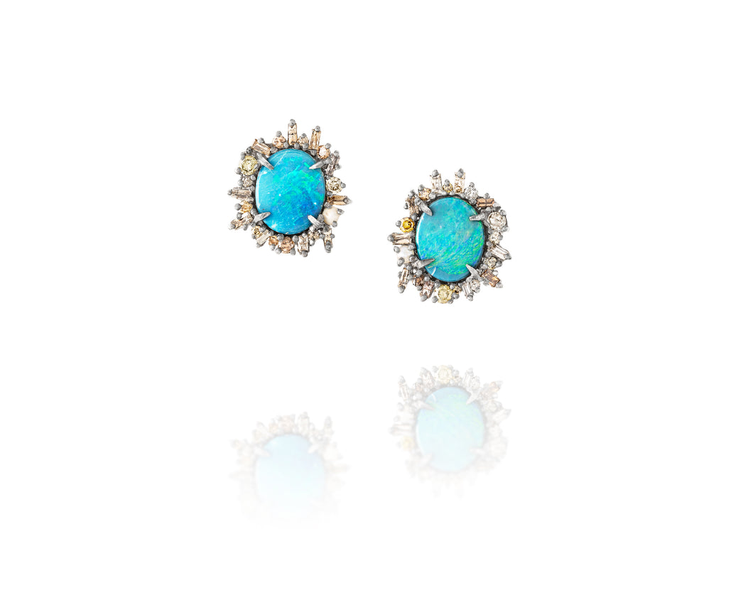 1.15ct Episodic Opal Post Earrings