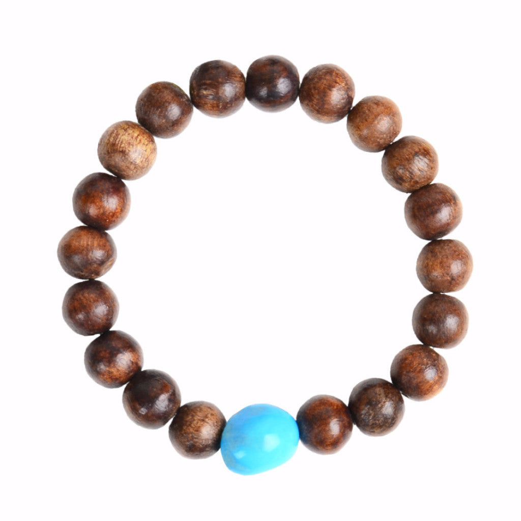 Opulent Wood Stretch Bracelet - Hottest Designer Pearl and Leather Jewelry | VINCENT PEACH