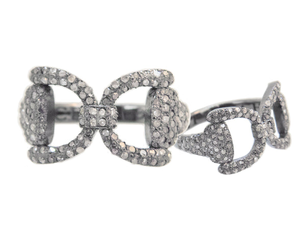 Pave Tied Bit Ring