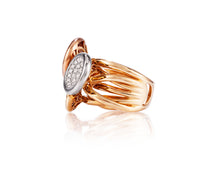 1.4ct Diamond 18kt White, Yellow, and Rose Gold Ring